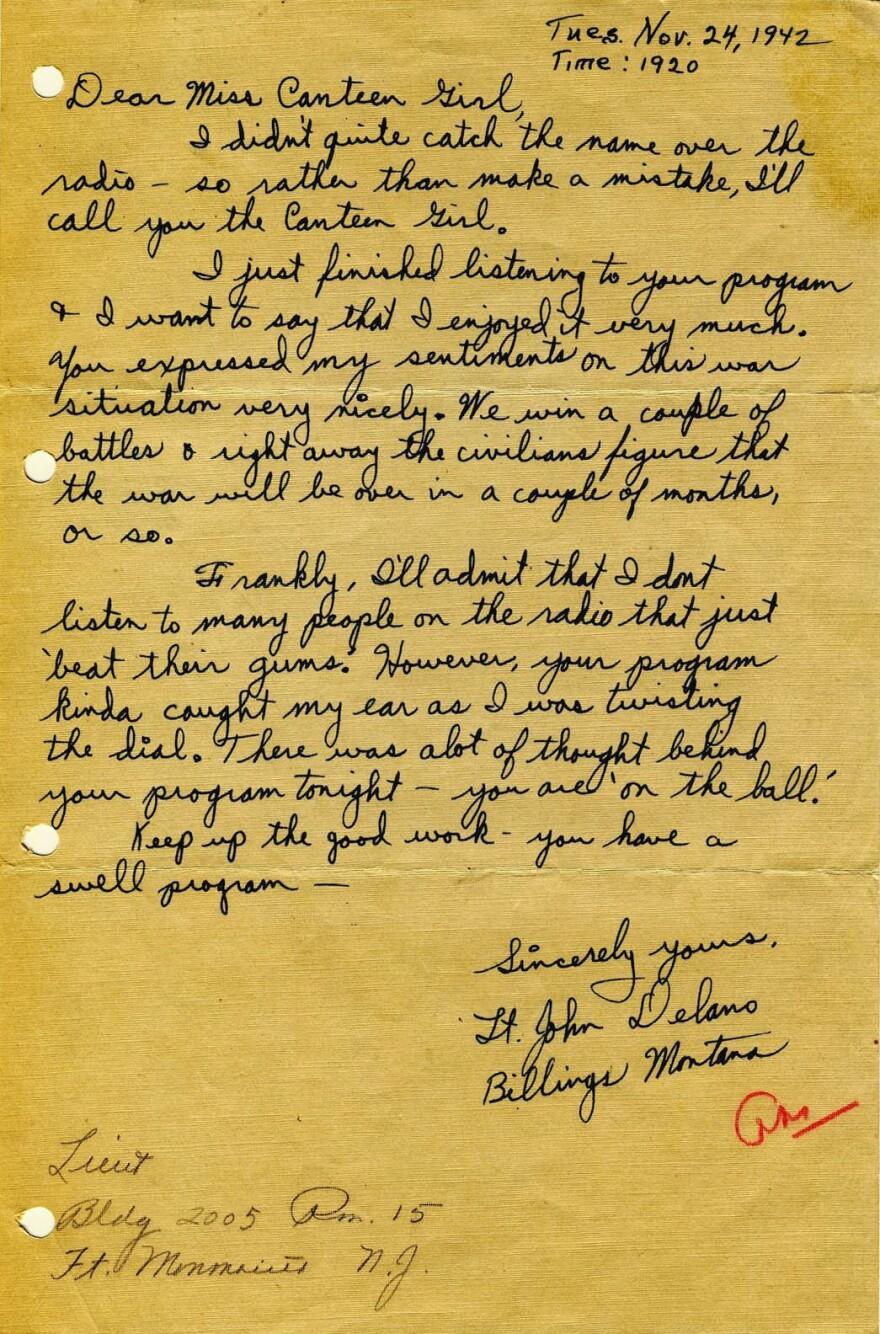 Delano letter