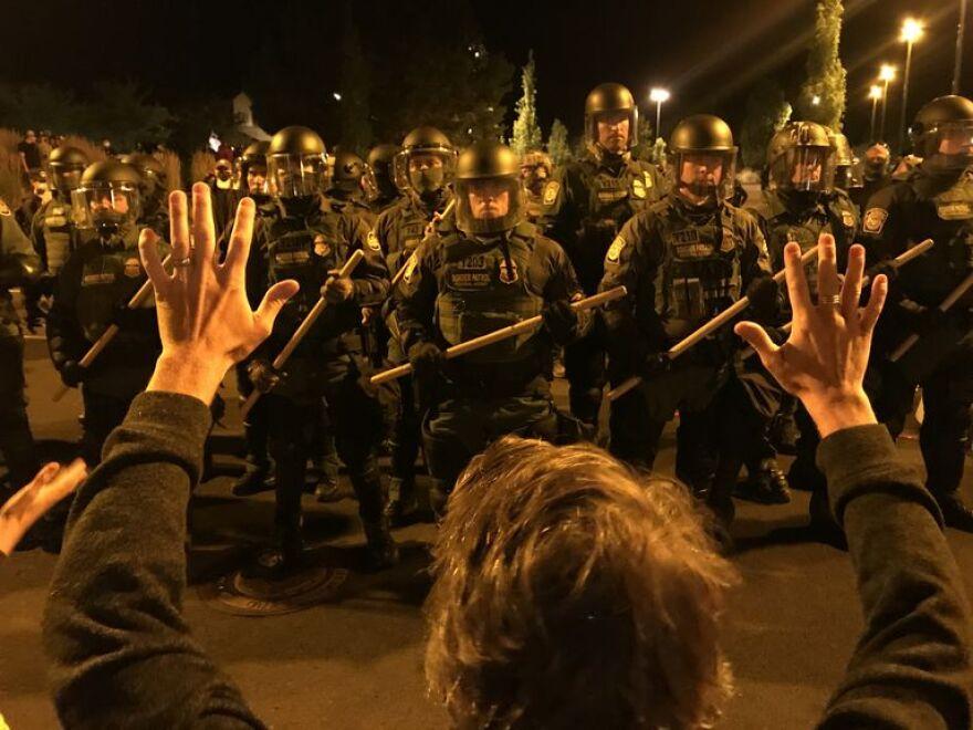 Border Patrol officers at demo in Bend.jpg