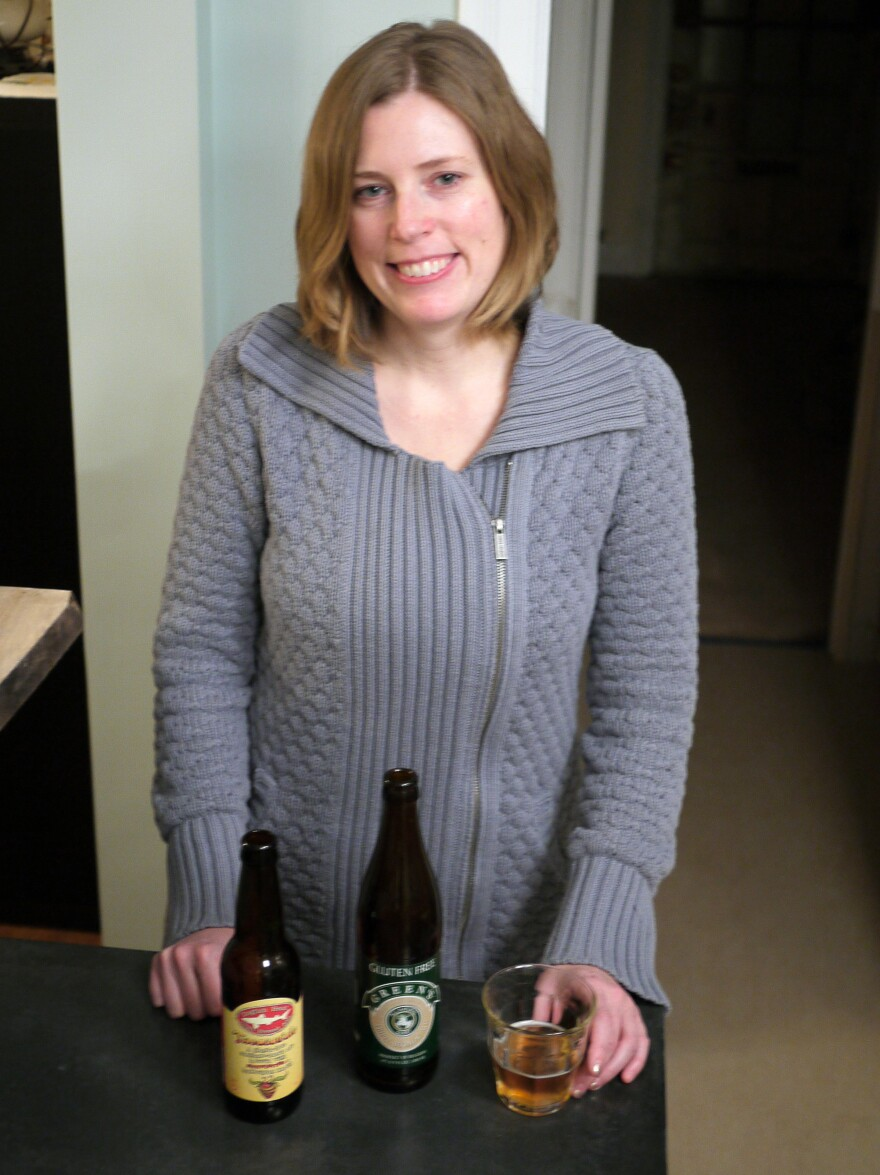 """God bless them,"" Abbey Potter says of craft brewers who are making gluten-free beer. Potter was diagnosed with celiac disease several years ago."