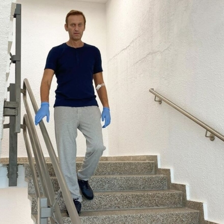 A photo shared last week on Russian opposition leader Alexei Navalny's Instagram account shows him at Berlin's Charité Hospital as his treatment continued.