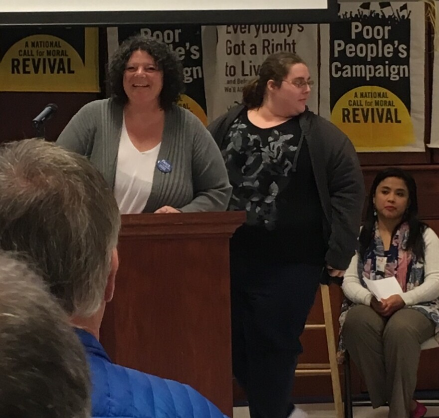Speakers at the WV event, including Amy Jo Hutchinson of Wheeling, W.Va.