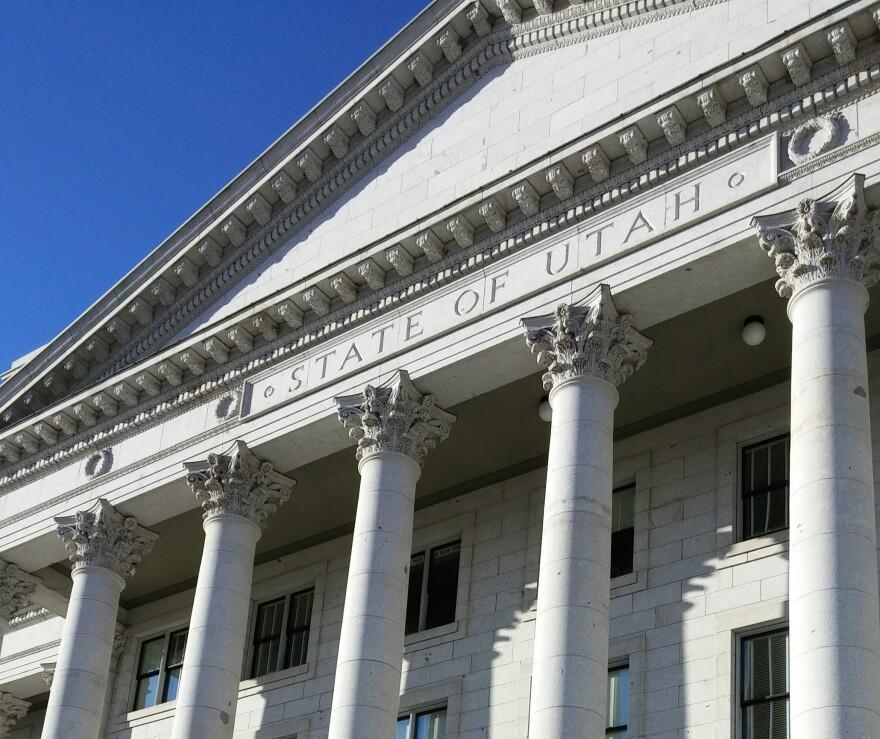 Columns at the Utah State Capitol Building