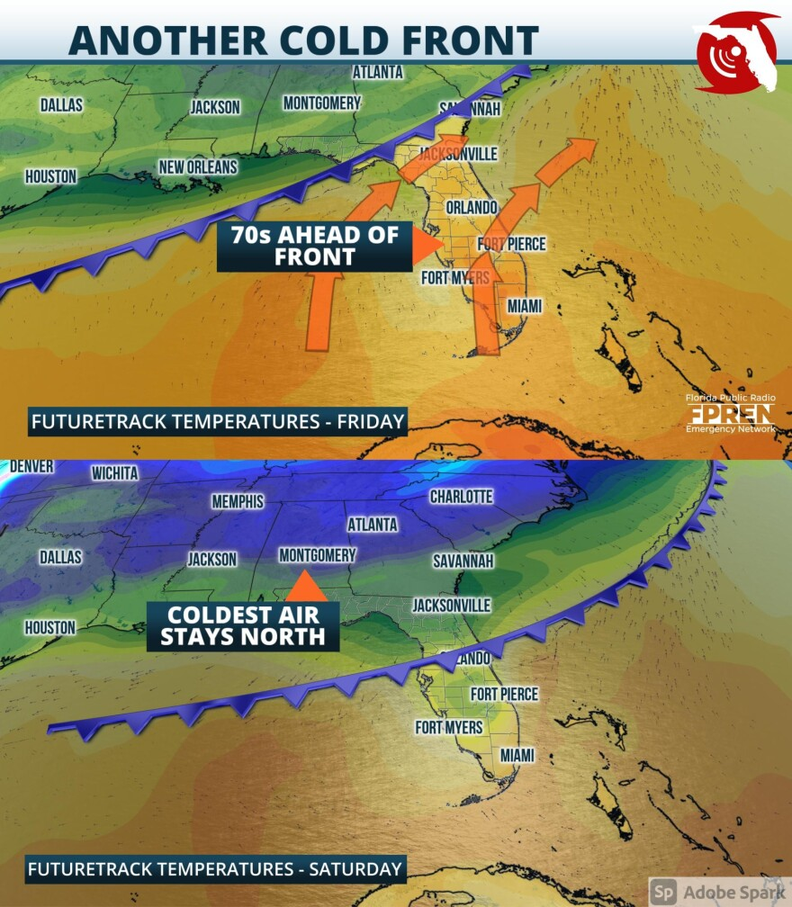Cold Front Expected to Stall Over the Peninsula this Weekend