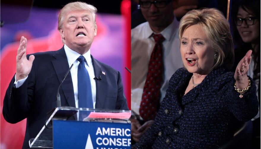 Donald Trump and Hillary Clinton composite