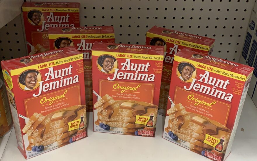 Boxes of Aunt Jemima pancake mix are seen on a store shelf on June 17, 2020 in Washington,DC.