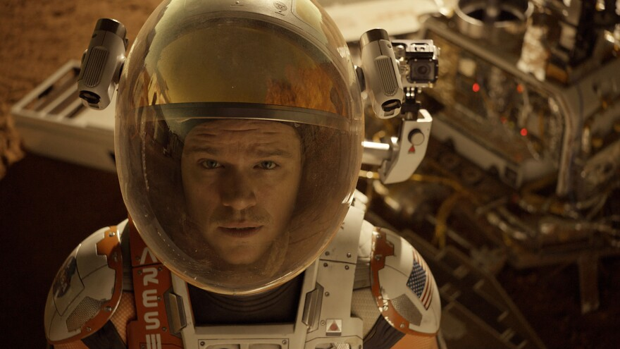Astronaut Mark Watney (Matt Damon) gets stranded on Mars in <em>The Martian.</em>
