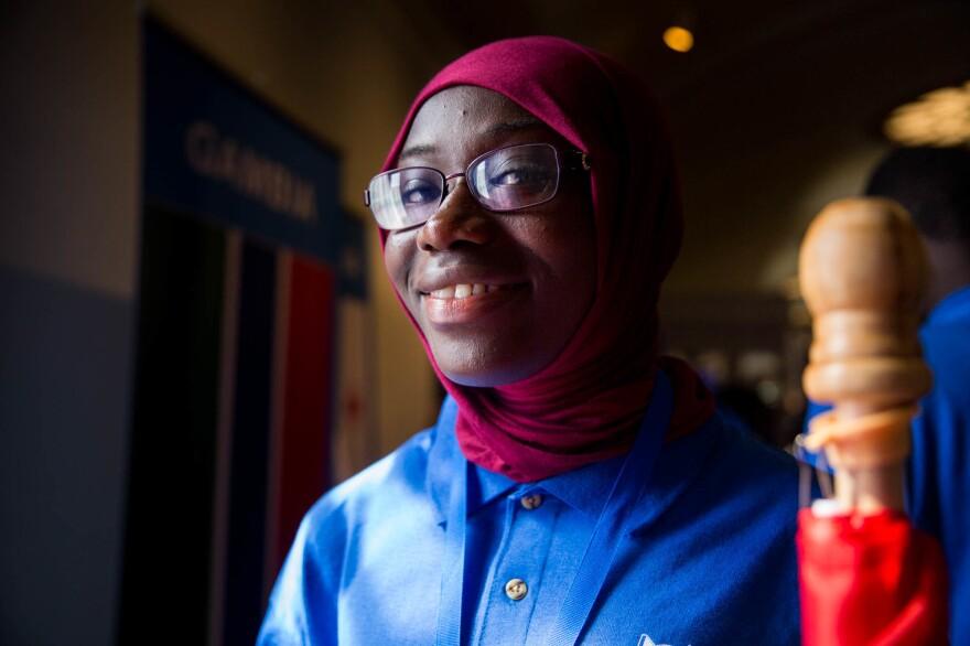 Khadijatou Gassama of team Gambia.