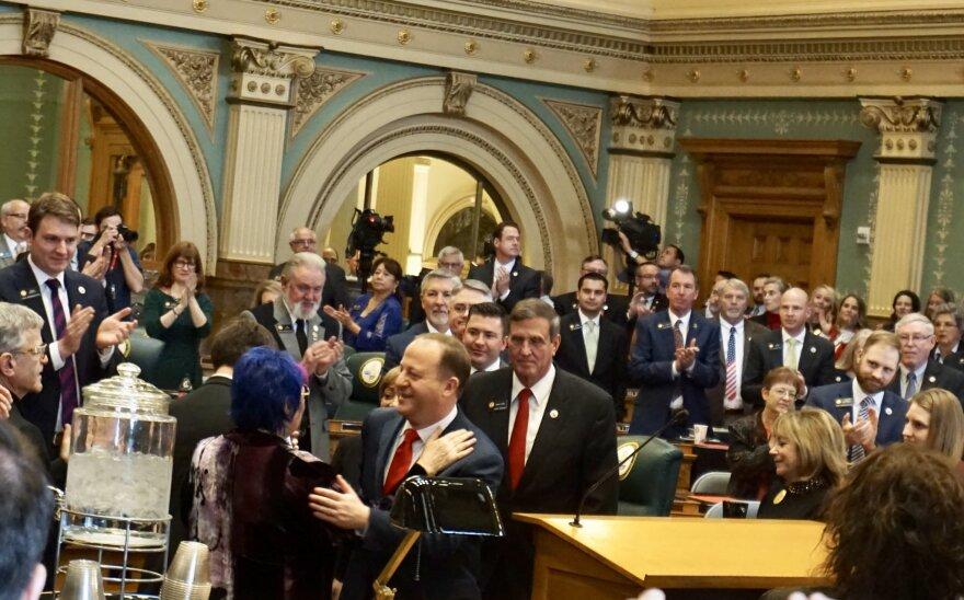 Gov. Polis on the House floor