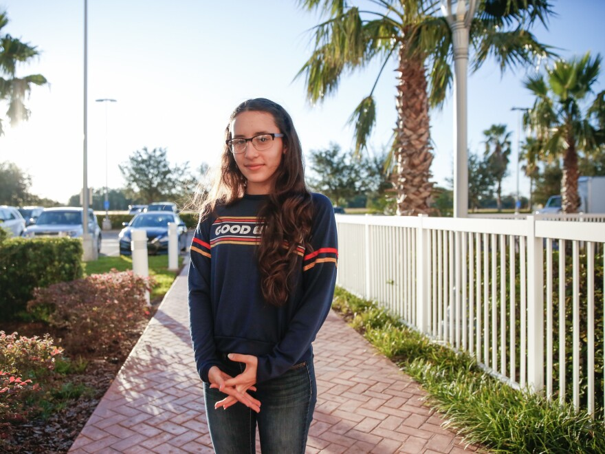Roldán moved from Puerto Rico to Orlando with her family for school. She wants to study advertising in college.