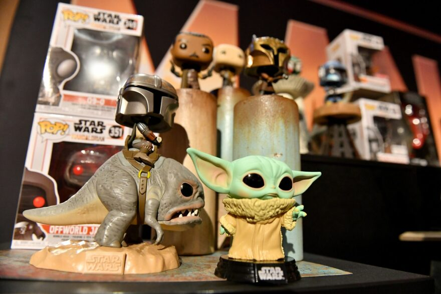 Star Wars merchandise at the New York Toy Fair Product Showcase in New York City.