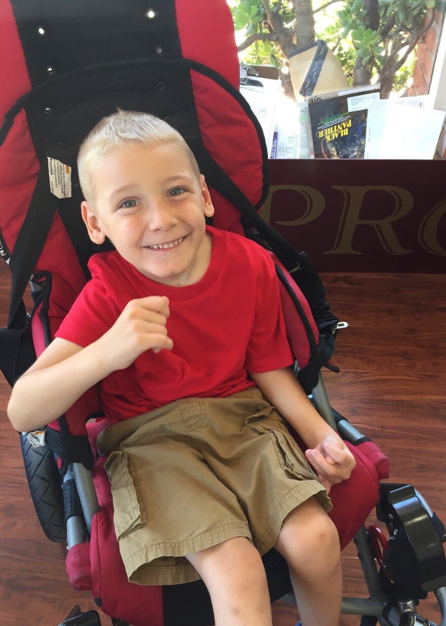 When Carson was about a year old, he was misdiagnosed with cerebral palsy.