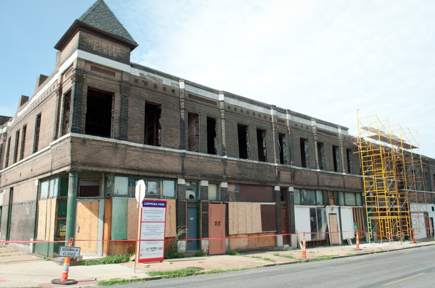 A rehab project at the corner of Chippewa Street and California Avenue by Rise Community Development and Lutheran Development Group on June 20, 2018.