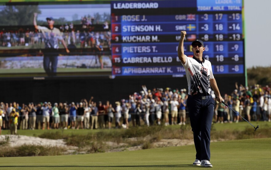 Justin Rose of Great Britain wins the gold medal in golf Sunday in Rio, as the sport returned to the Olympics for the first time in 112 years.