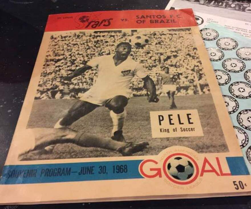 This program from Pele's 1968 appearance in St. Louis with Santos F.C. of Brazil is part of Pat McBride's collection.