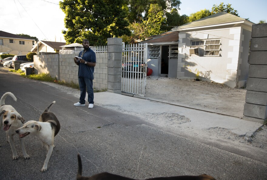 The home of China Laguerre and her family has emerged as the headquarters of an ad hoc Haitian community support network.