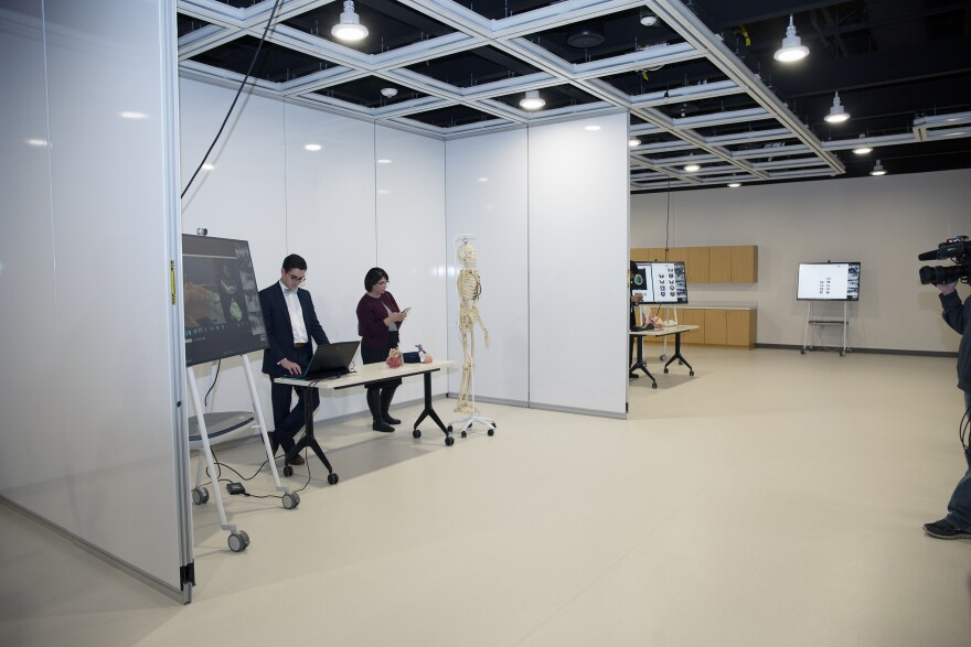 digital medical lab set-up in large room