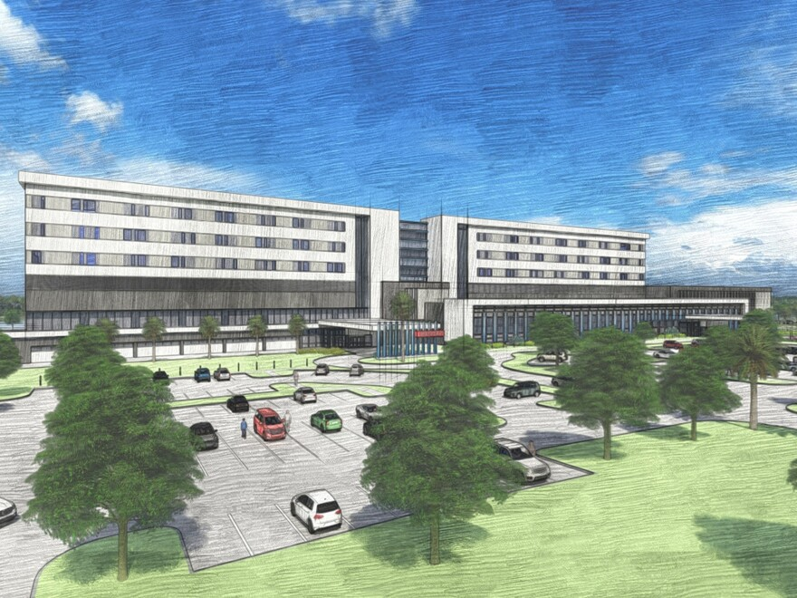 Plans call for up to 150 private patient rooms with the ability to add 30 more in a future expansion, according to a release from BayCare.