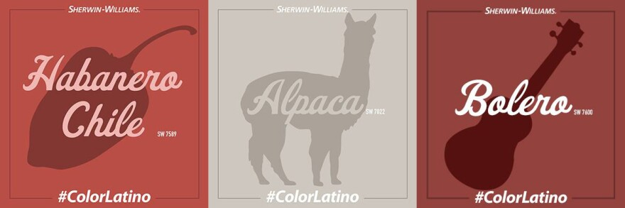 """Here's a selection of colors from the Sherwin-Williams """"Color Latino"""" campaign."""