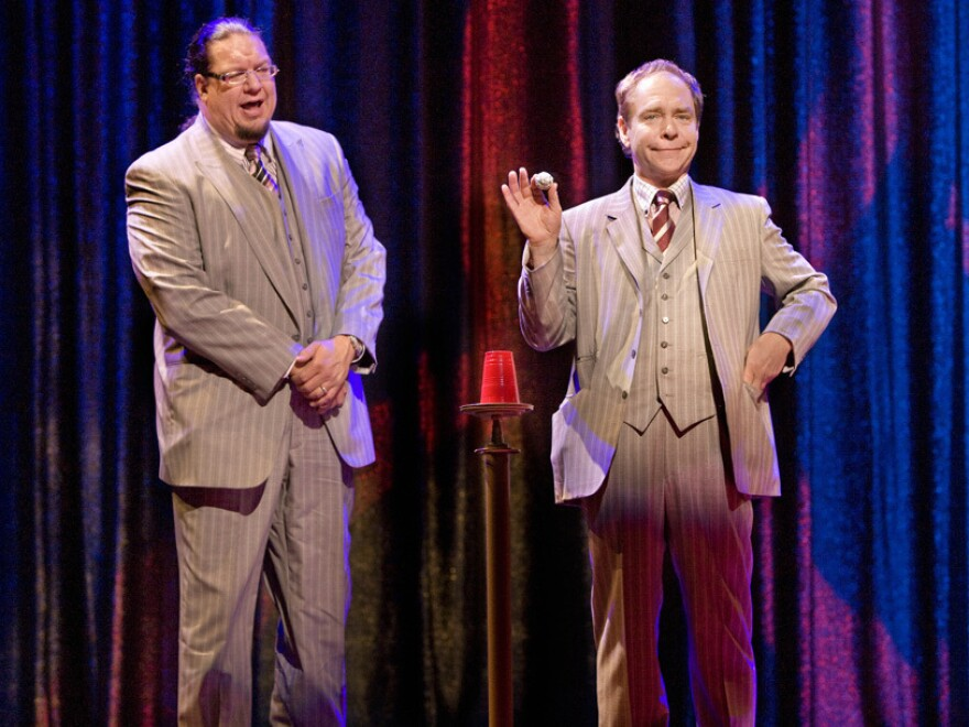 """In a <a href=""""http://www.smithsonianmag.com/arts-culture/Teller-Reveals-His-Secrets.html?c=y&story=fullstory"""">recent article</a> for <em>Smithsonian Magazine</em>, Teller (right), half of the magic team Penn & Teller, explains the art and science of mental manipulation."""