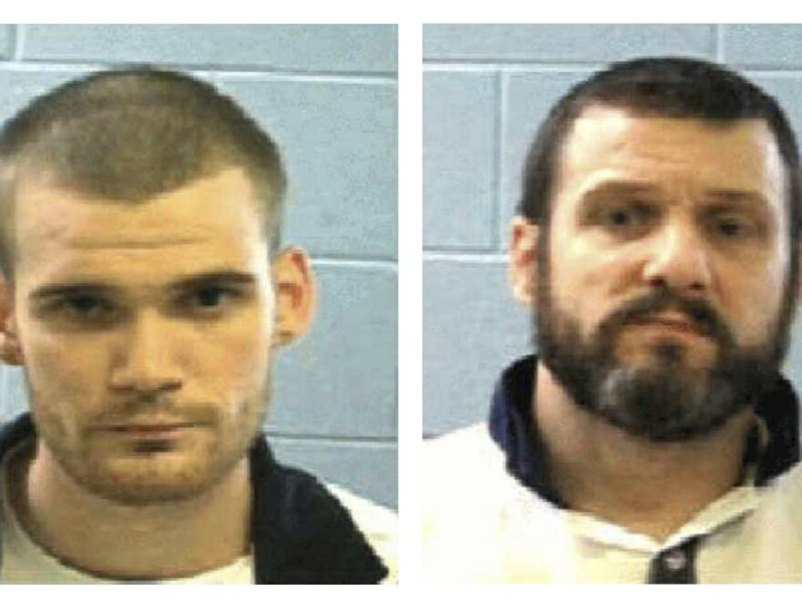 This combo of undated photos provided Tuesday by the Georgia Department of Corrections shows inmates Ricky Dubose (left) and Donnie Russell Rowe.
