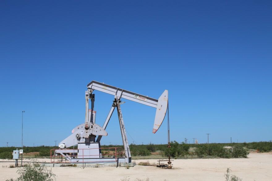 A pump jack near Imperial, Texas in 2017.