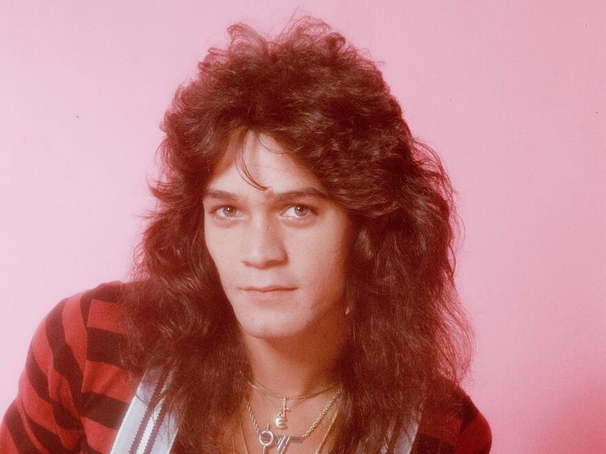 A portrait of Eddie Van Halen, from a photo shoot in Tokyo, Sep. 1979.
