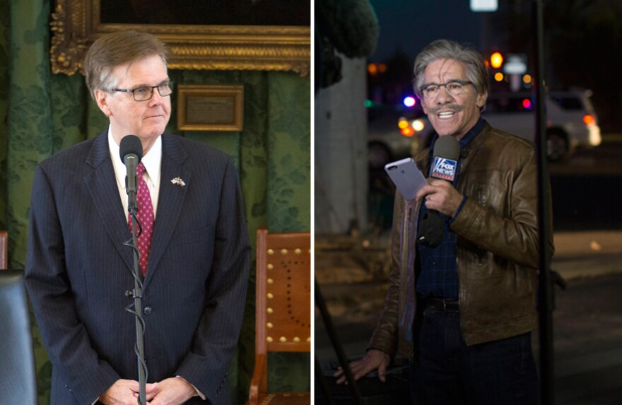 Lt. Gov. Dan Patrick has challenged Gerald Rivera to a debate over immigration.