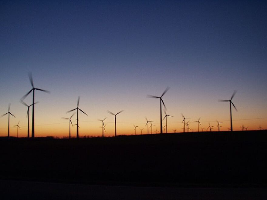 Picture of a wind farm