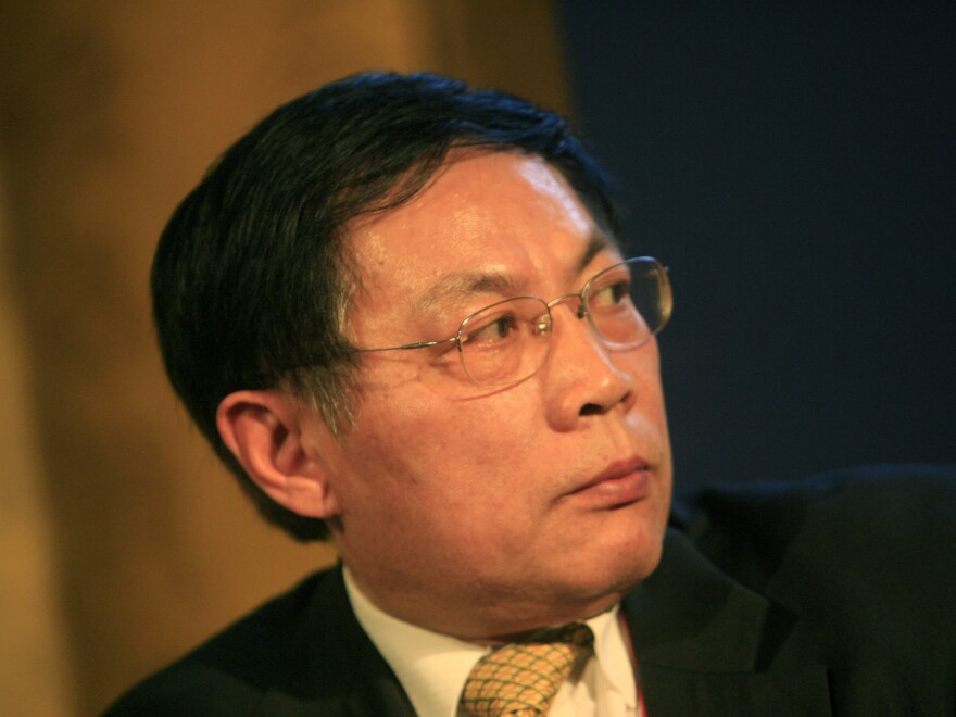 Ren Zhiqiang seen at a business conference in Beijing in 2008. Ren was sentenced to 18 years in prison Tuesday for corruption following his public criticism of Chinese President Xi Jinping and the Chinese Communist Party.