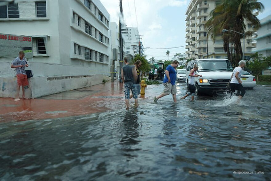 South Miami Beach floods regularly, rain or shine, due to effects scientists say are linked to human-induced climate change. The same experts are worried that President-elect Donald Trump is a climate change denier.