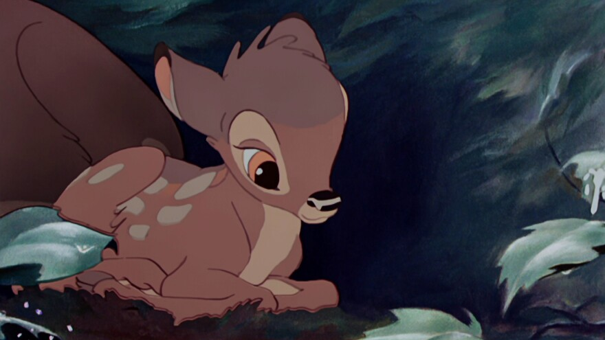 Researchers say human brains can become overwhelmed by cute traits, such as large eyes and small noses, embodied by movie characters like Bambi.