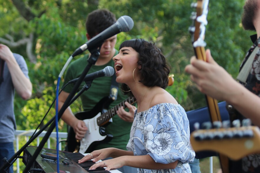 Victoria Acuña, who creates music as Vicky Burp, plays with her former band 16 Pyschē in May 2017. Acuña has been an active in the San Antonio music scene 2015.