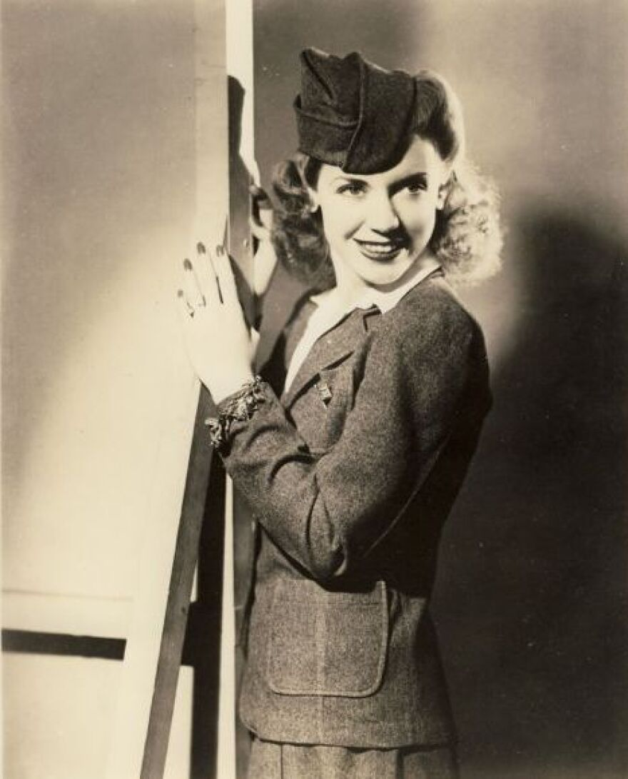 """During World War II, """"Canteen Girl"""" Phyllis Jeanne Creore spoke and sang to the troops and their loved ones for 15 minutes every week on NBC radio."""