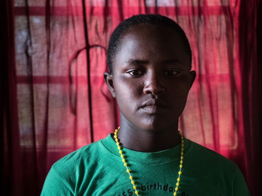 "Modestar: ""I am at the Samburu Girls Foundation for many problems. One is for early marriage. I could not go to school because my parents were very poor. This made me very sad. I could not say my A, B, C, Ds, but I knew I was a very bright girl. Today, they gave us small things called cameras. Everybody carries them. For the rest of my life, I will not forget this day."""