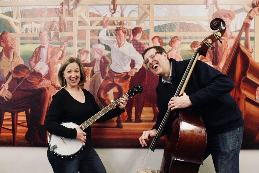 """Amanda Doyle (left) and Steve Pick (right) wrote """"St. Louis Sound: An Illustrated Timeline,"""" which tells the rich history of music out of St. Louis."""