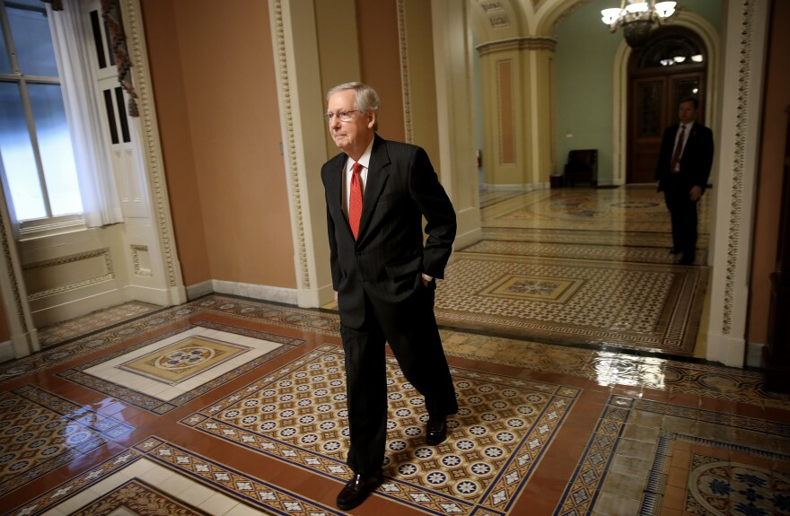 Senate Majority Leader Mitch McConnell, R-Ky., says that in 2018, he wants to focus on issues that his party could work with Democrats on.