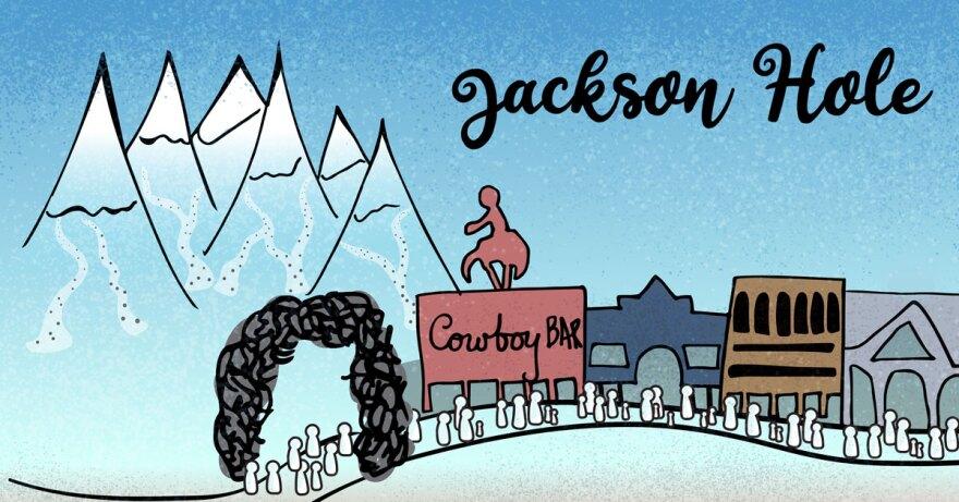 Illustration of Jackson Hole.