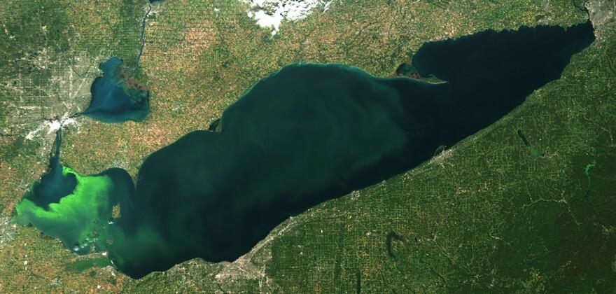 Lake Erie seen from orbit