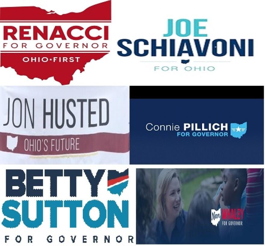 photo of 2018 Ohio gubernatorial candidate posters
