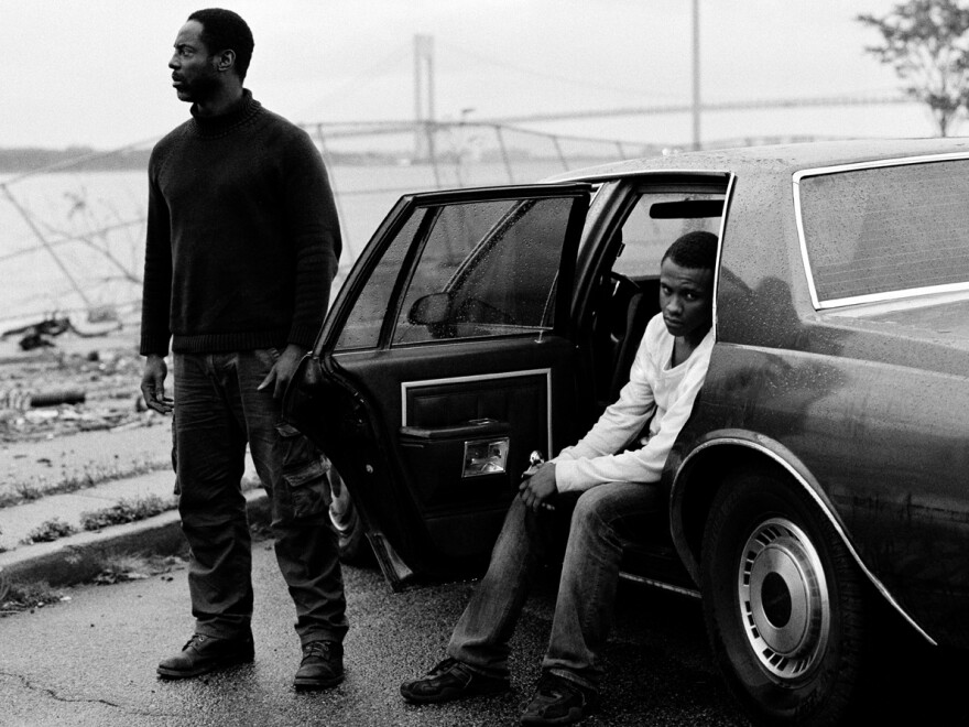 Isaiah Washington (left) plays a sort of fatal father figure to Tequan Richmond's Lee in <em>Blue Caprice.</em> The characters are inspired by the so-called Beltway snipers, who killed 10 people in and around Washington, D.C., in 2002.