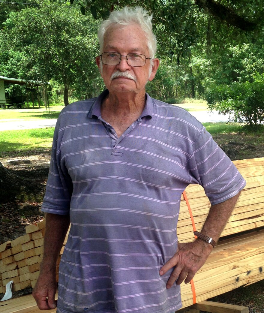 Bill Griffin, 78, is in the process of building a new home in Pearlington, Miss.