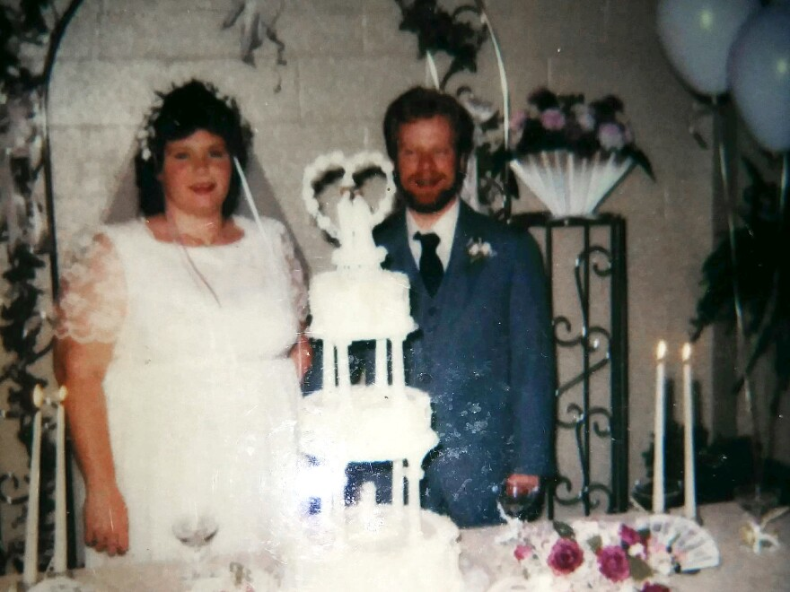 Judy and Larry Pichon on their wedding day in 1986. Judy had a rare autoimmune disease and was unable to get an ICU bed in July because they were full, and she died. If it weren't for the pandemic, Larry believes his wife would be alive.