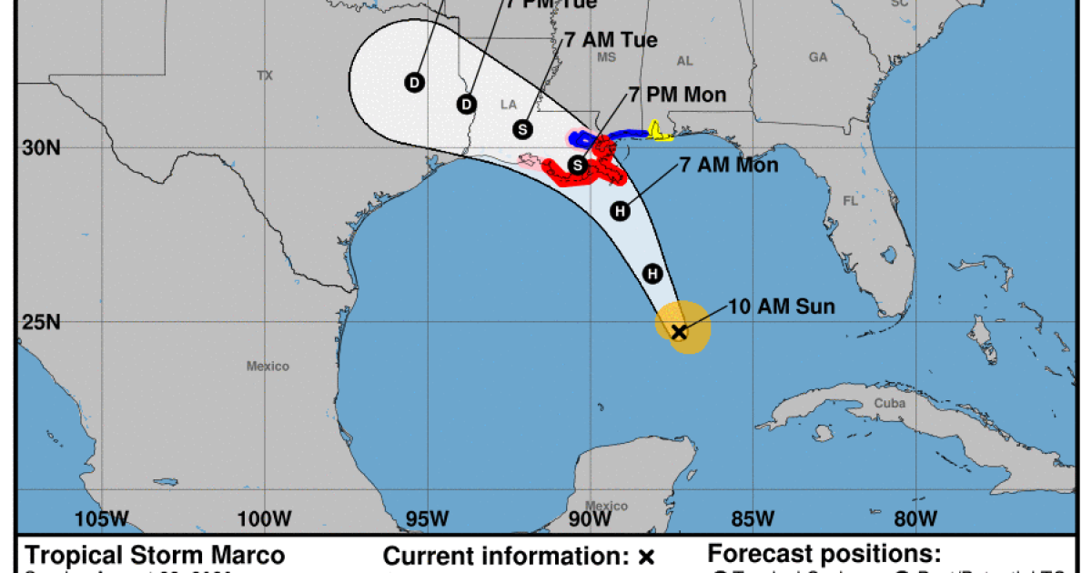Tropical Storms Expected To Become Hurricanes, Impacts Likely For Texas And Louisiana