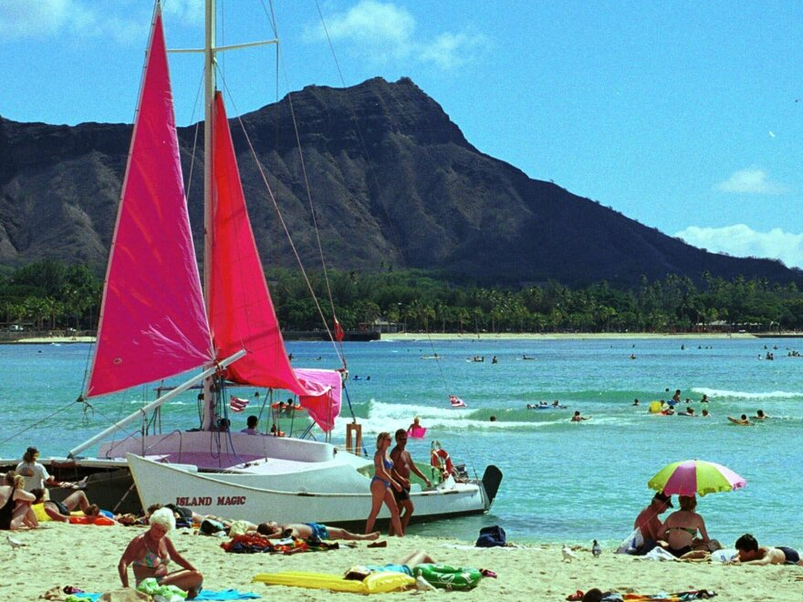Waikiki Beach in Honolulu. Undercover police in Honolulu say they need to be exempt from laws barring sex with prostitutes because sometimes they can't reveal their identities too soon.