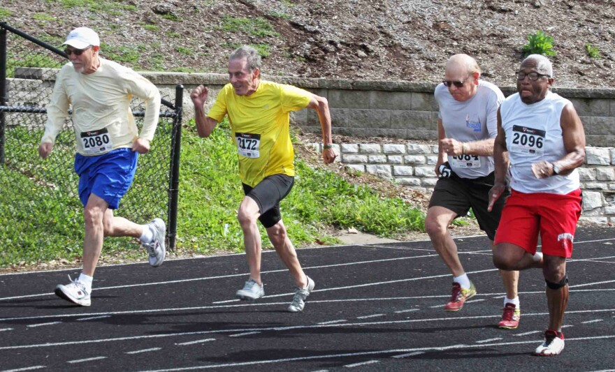 Over 1,100 athletes competed in the 2018 St. Louis Senior Games, which included sports ranging from water volleyball to track and field.