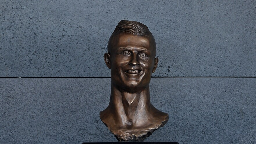 Look upon the bust of Ronaldo and quake, for its unending gaze stareth into thy soul.