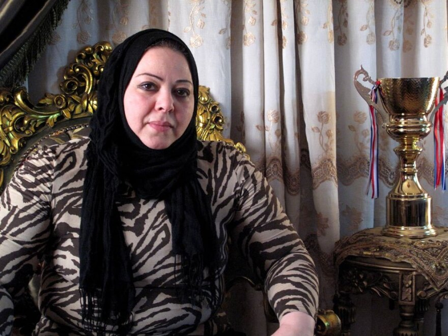 Essam's mother, Iman El-Minshawi, says she was terrified at first that her son was taking such an active role in the revolution, but now thinks of him as a hero.