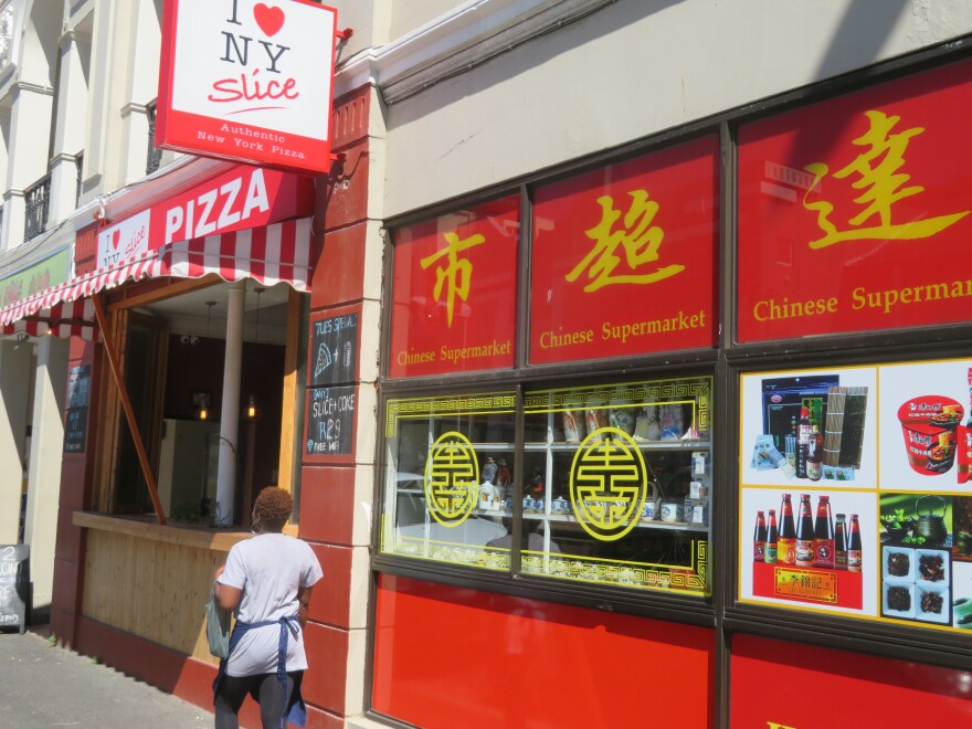 In the Cape Town suburb of Sea Point, you can pick up a slice of New York-style pizza after popping into the Hong Da Asian Supermarket.