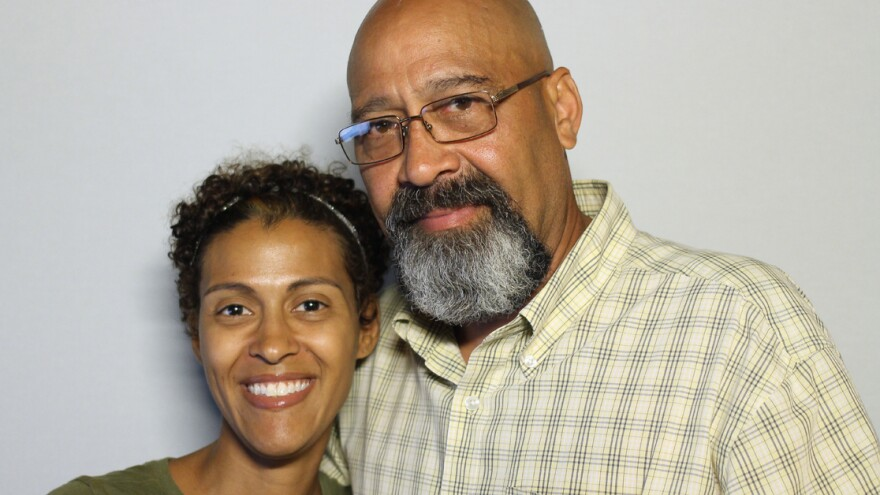 Arnaldo Silva with his daughter Vanessa at StoryCorps.