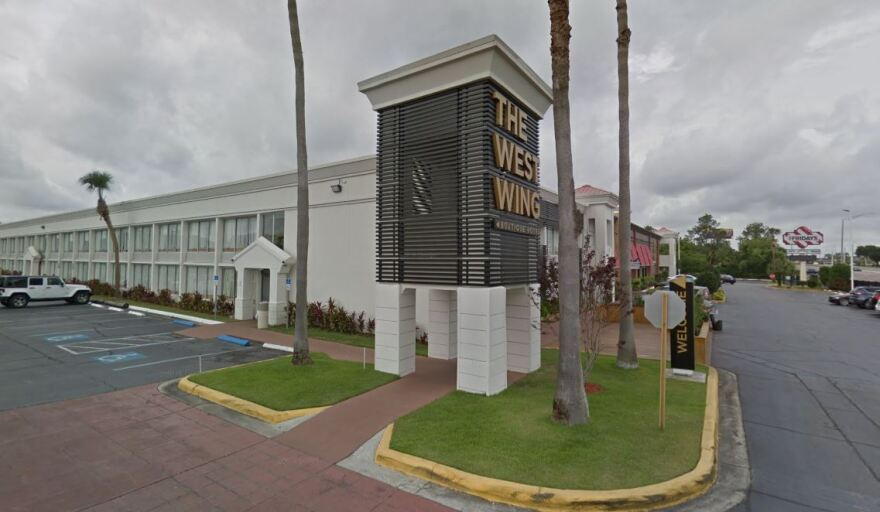 The West Wing Hotel on E. Fowler Ave. in Tampa, along with the nearby Quality Inn, are being converted into temporary quarantine and isolation sites for Hillsborough residents who have tested positive for coronavirus or have been exposed to the virus.